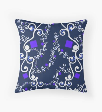 Blue Purple Connection Throw Pillow