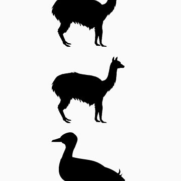 Llamas N Ducks Black by Arkani