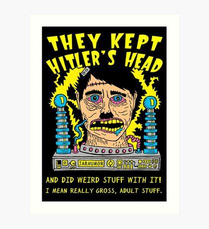 Mantenían la cabeza de Hitler Lámina artística