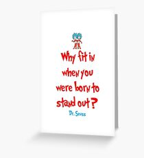 Dr. Suess Quote - Iphone 6 Case Greeting Card