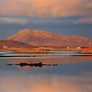 Eaval Sunset Reflection.  North Uist. Western Isles. Scotland. by PhotosEcosse