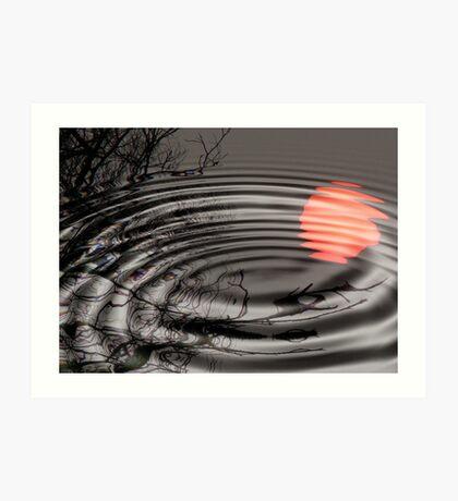 Moon-Pond Ripples Art Print