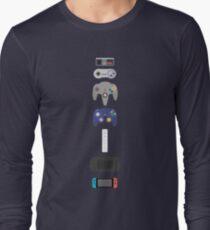 Nintendo Controllers Evolution 2017 Long Sleeve T-Shirt