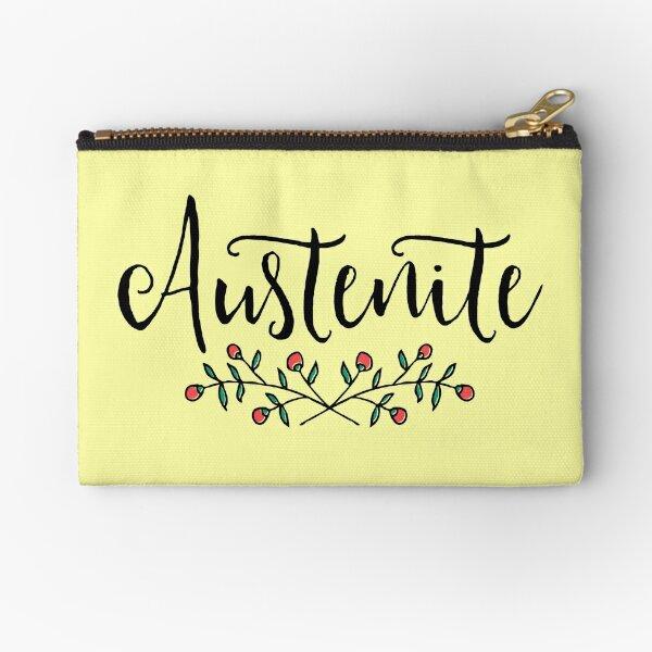 Jane Austen Floral Austenite Zipper Pouch