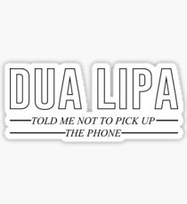 Dua Lipa - New Rules Sticker