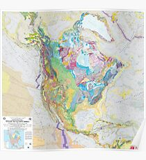USGS Geologic Map of North America Poster