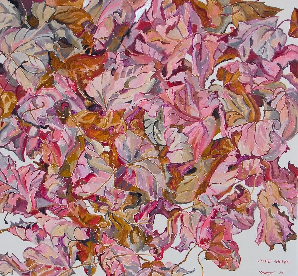 Pile of autumn leaves by Vitali Komarov
