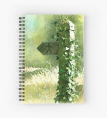 Footpath Sign with Ivy - Watercolour painting Spiral Notebook