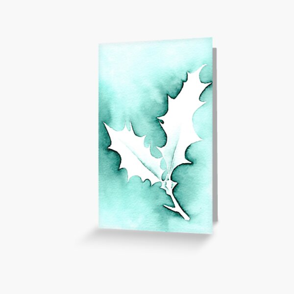 Holly Leaves Christmas design Greeting Card