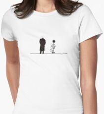 The man and the Sunflower Women's Fitted T-Shirt