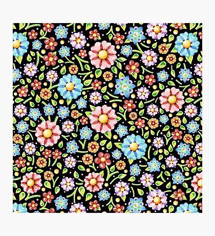 Ditsy Millefiori Pattern Photographic Print