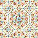 Millefiori Floral Pattern by PatriciaSheaArt