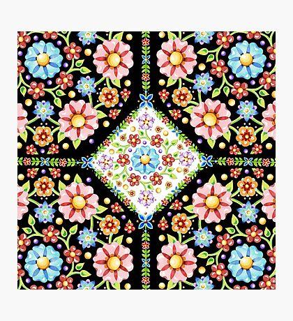 Millefiori Floral Tile Photographic Print
