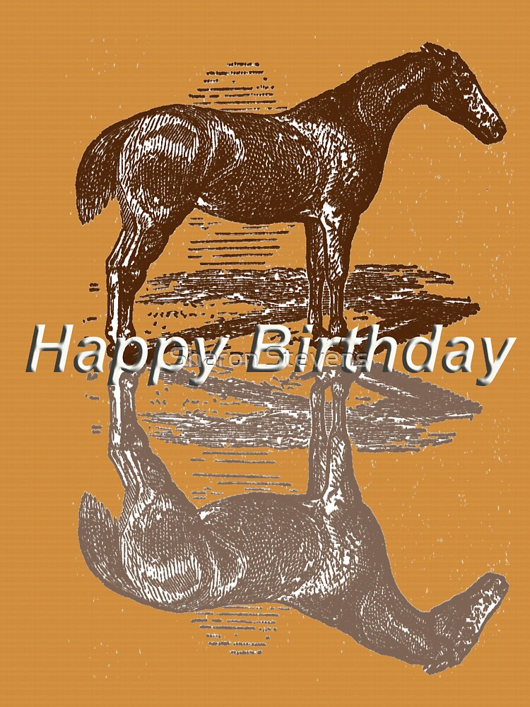 Horse Birthday Card by Sharon Stevens
