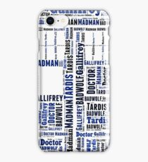 Doctor Who Wordart iPhone Case/Skin