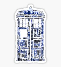 Doctor Who Wordart Sticker