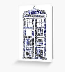 Doctor Who Wordart Greeting Card