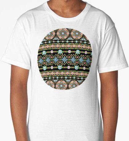Millefiori Folkloric Stripe Long T-Shirt