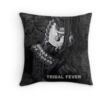 Tribal Fever - Throw Pillow by Glen Allison