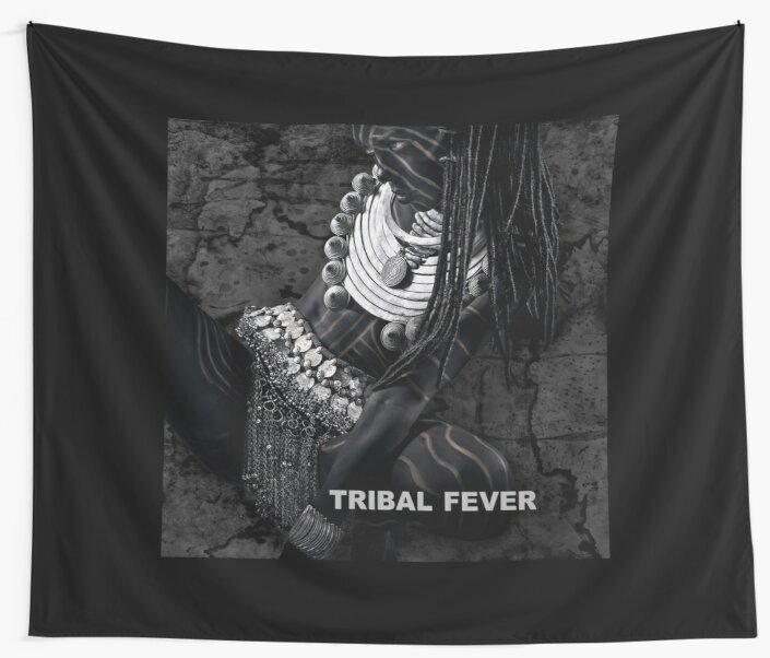 Tribal Fever - Wall Tapestry by Glen Allison