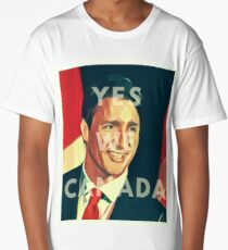 Justin Trudeau Yes We Canada Long T-Shirt