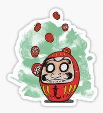 Daruma Doll Cartoon Sticker