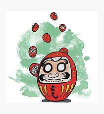 Daruma Doll Cartoon Photographic Print