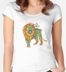 Lion, from the AlphaPod collection Women's Fitted Scoop T-Shirt
