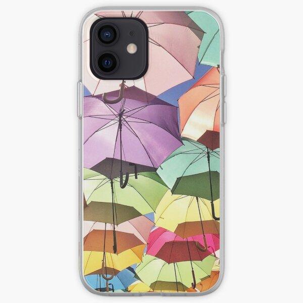 Umbrellas in the Sky iPhone Soft Case
