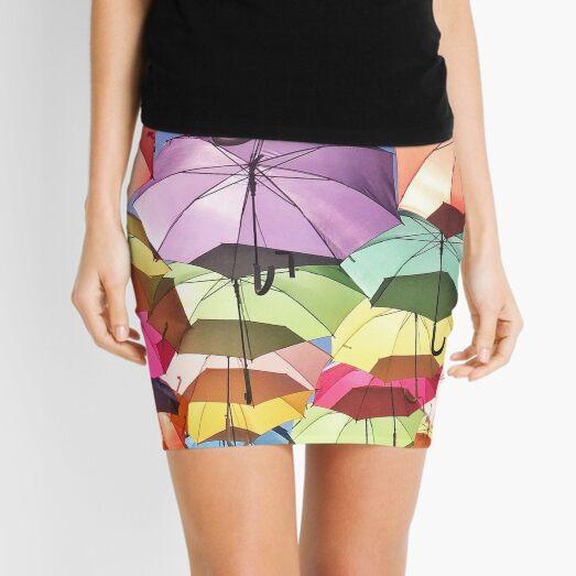 Umbrellas in the Sky Mini Skirt