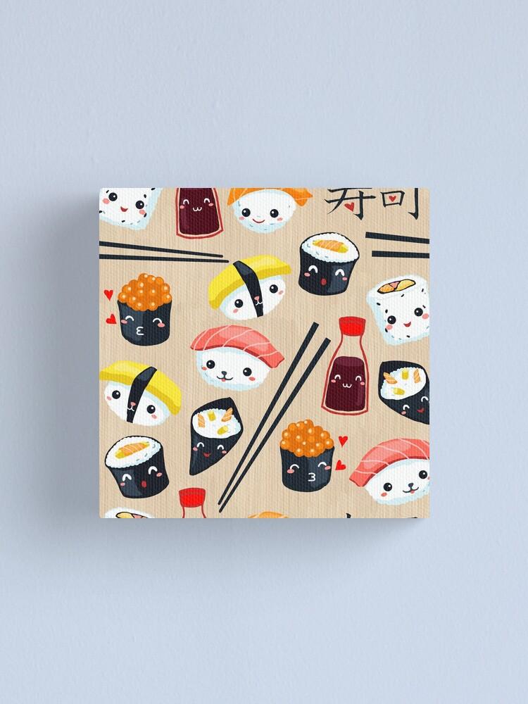 Alternate view of Kawaii Sushi Canvas Print