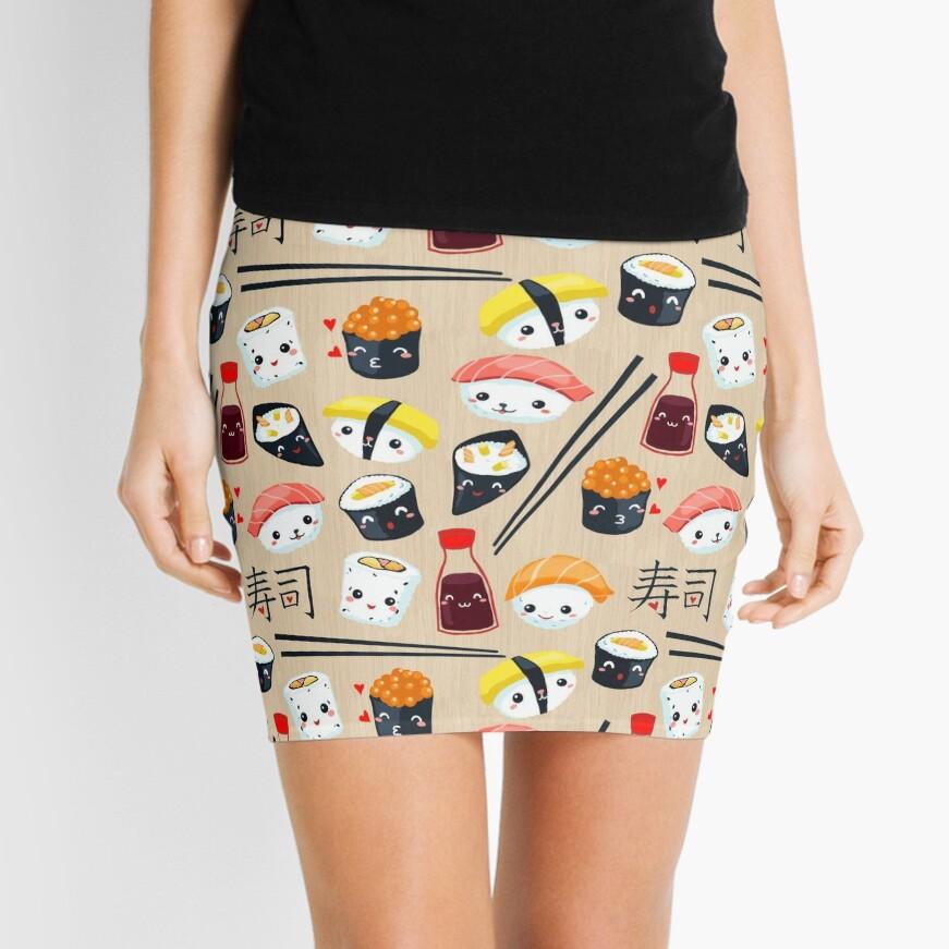Kawaii Sushi Mini Skirt