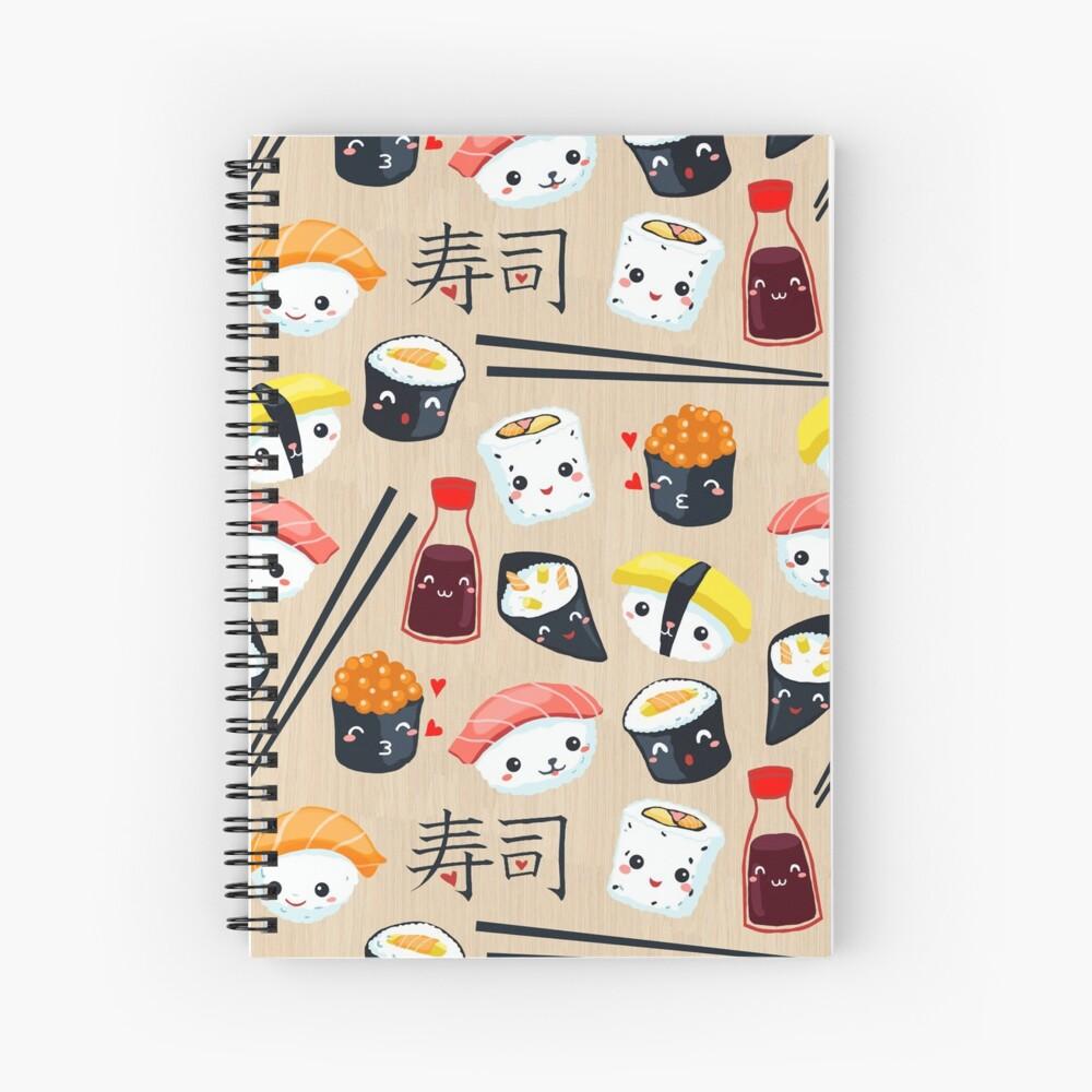 Kawaii Sushi Spiral Notebook