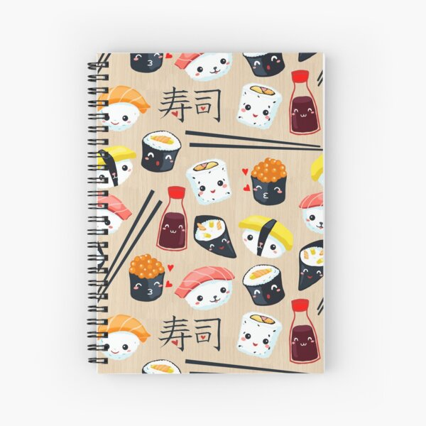 Kawaii Sushi Spiral Notebook