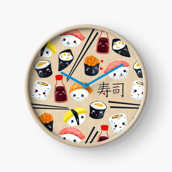 Kawaii Sushi Horloge