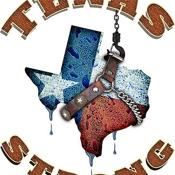Texas Strong T-Shirt Water Flag Lone Star State  by PKdesigns