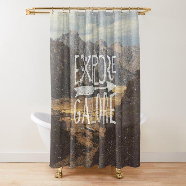 Explore Galore Shower Curtain