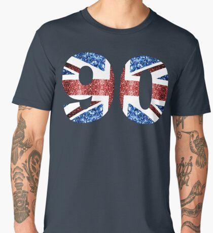 Sparkly flag of United Kingdom UK number 90 Men's Premium T-Shirt