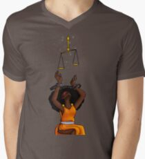 Justice Shackled Men's V-Neck T-Shirt