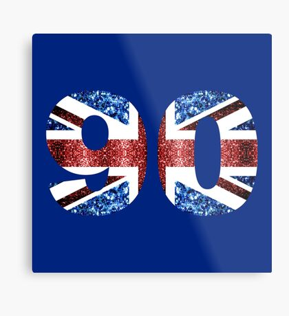 Sparkly flag of United Kingdom UK number 90 Metal Print