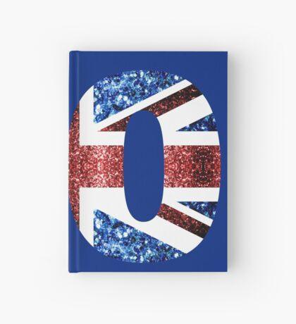 Sparkly flag of United Kingdom UK number 90 Hardcover Journal