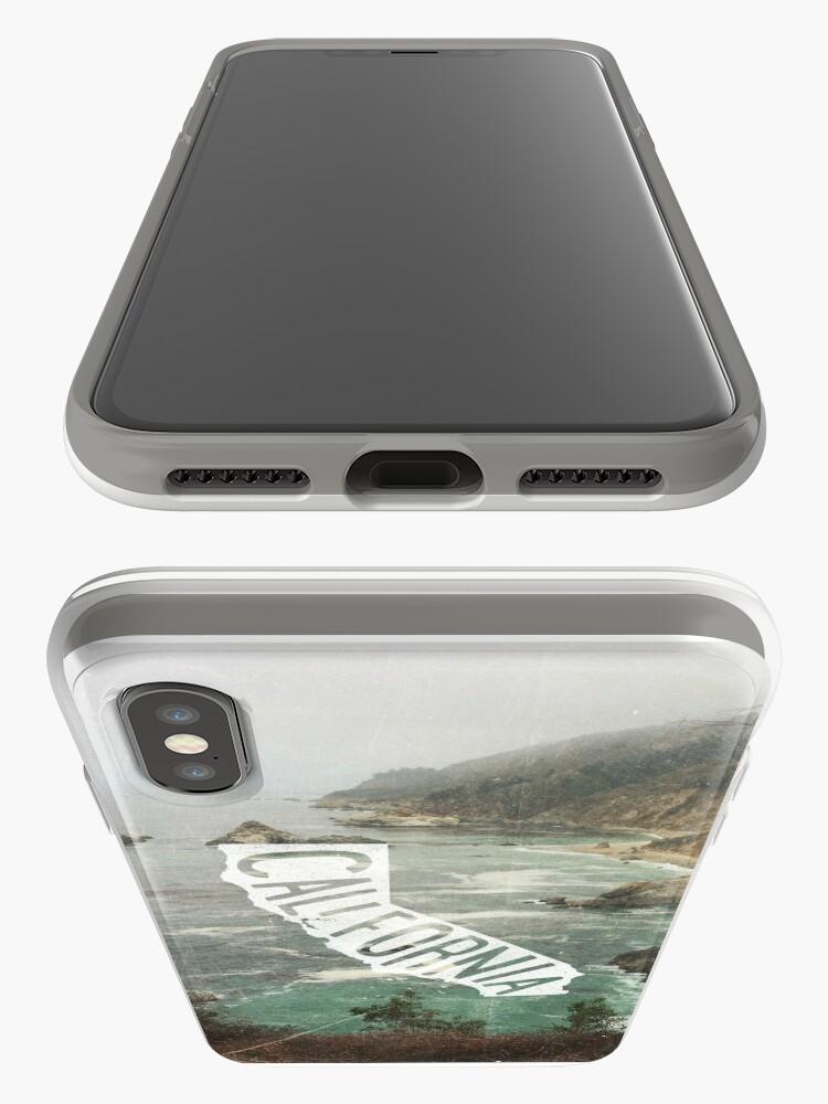 Vista alternativa de Funda y vinilo para iPhone California