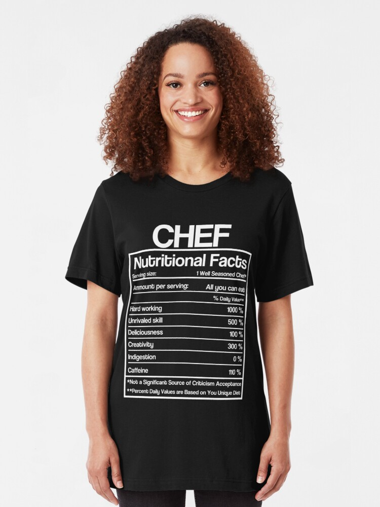 Chef Gift Chef Nutritional Facts Funny Unisex Sweatshirt tee