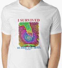 I survived Hurricane Irma  Men's V-Neck T-Shirt