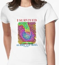 I survived Hurricane Irma  Women's Fitted T-Shirt