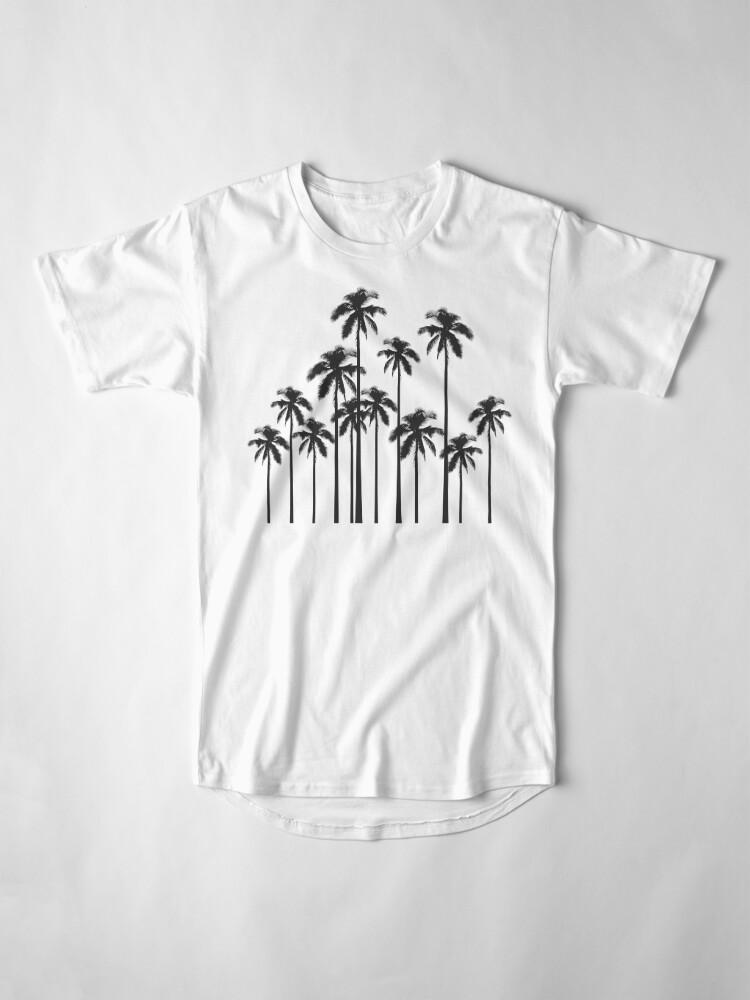 Alternative Ansicht von Exotische tropische Schwarzweiss-Palmen Longshirt