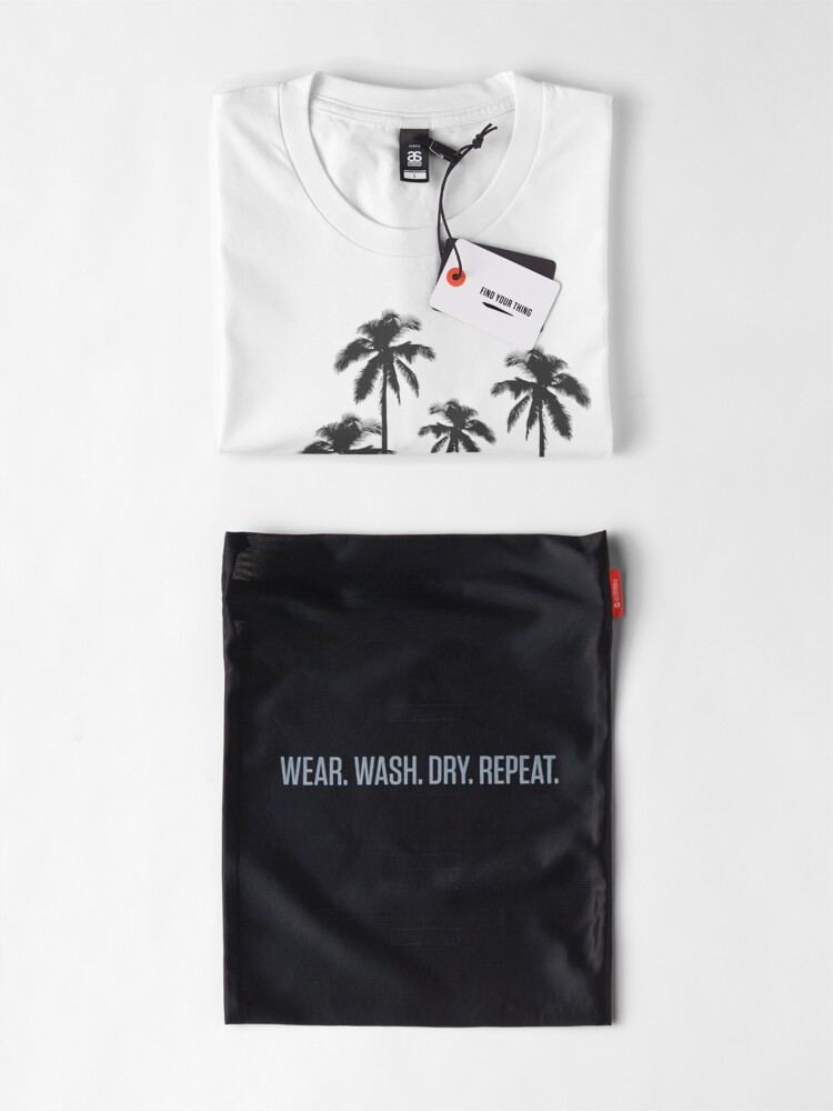 Alternate view of Black and White Exotic Tropical Palm Trees Premium T-Shirt