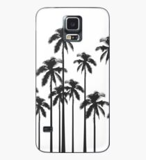 Black and White Exotic Tropical Palm Trees Case/Skin for Samsung Galaxy