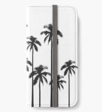 Black and White Exotic Tropical Palm Trees iPhone Wallet/Case/Skin