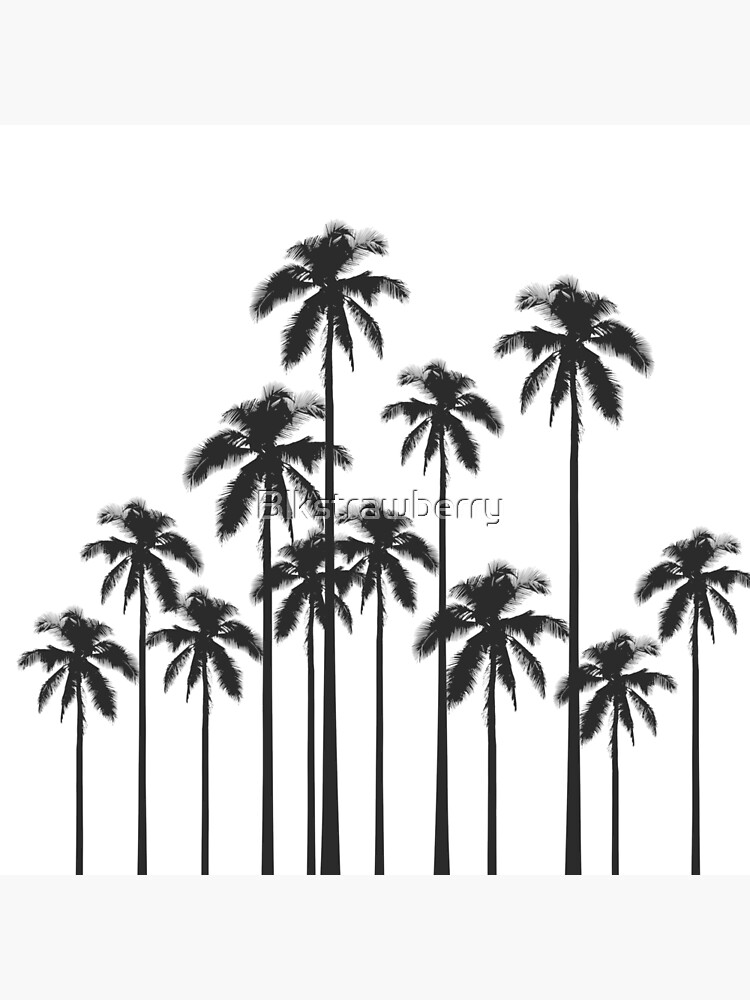 Black and White Exotic Tropical Palm Trees by Blkstrawberry
